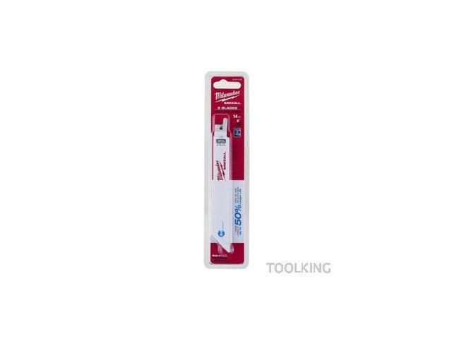 Milwaukee 48-00-4184 6-inch 18 TPI Sawzall Reciprocating Saw Blades