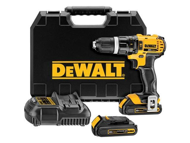 DCD785C2 20V MAX Cordless Lithium-Ion Compact Hammer Drill Driver Kit