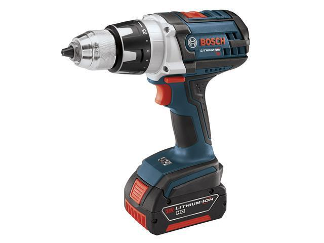 HDS181-01 18V Cordless Lithium-Ion Compact Tough 1/2 in. Hammer Drill Driver with 2 Fat Pack HC Batteries