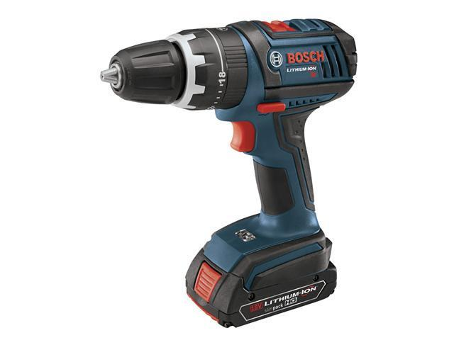 HDS181-02 18V Cordless Lithium-Ion Compact Tough 1/2 in. Hammer Drill Driver with 2 Slim Pack HC Batteries
