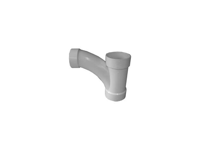 Genova Products Inc 72543 4X4X3-Inch PVC DWV Combo Tee/Wye Reducing Combination
