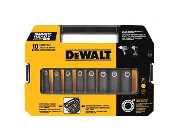 DW22838 10 Piece 3/8 in. Drive Impact Ready Socket Set