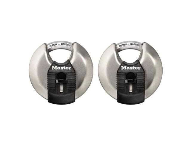 Master Lock M40XT 2-3/4-Inch Shrouded Steel Wide Body Padlock - 2-Pack