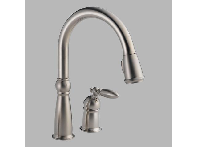 Delta 955-SS-DST Victorian Stainless Single Handle Pull-Down Kitchen Faucet