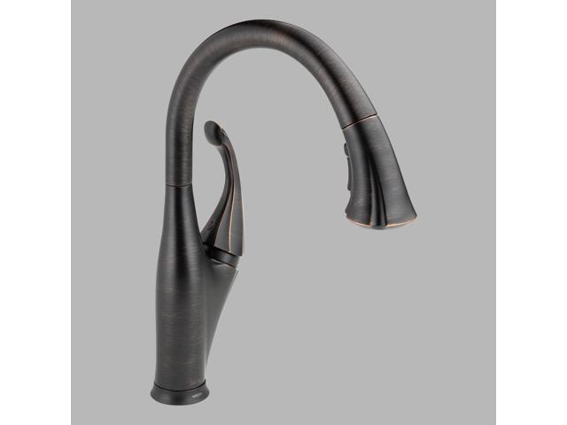 Delta-9192T-RB-DST Addison, Single Handle Pull-Down Kitchen Faucet Featuring Touch2O(R) Technology, Venetian Bronze