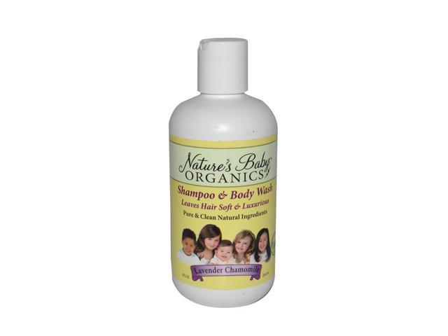 Shampoo & Body Wash - Lavender/Chamomile - Natures Baby Organics - 8 oz - Liquid