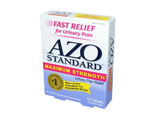 AZO Standard Maximum Strength Urinary Pain Relief 12 Tablets