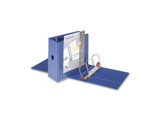 "Cardinal 26352 ClearVue XtraLife Slant-D Presentation Binder, 5"" Capacity, Blue"