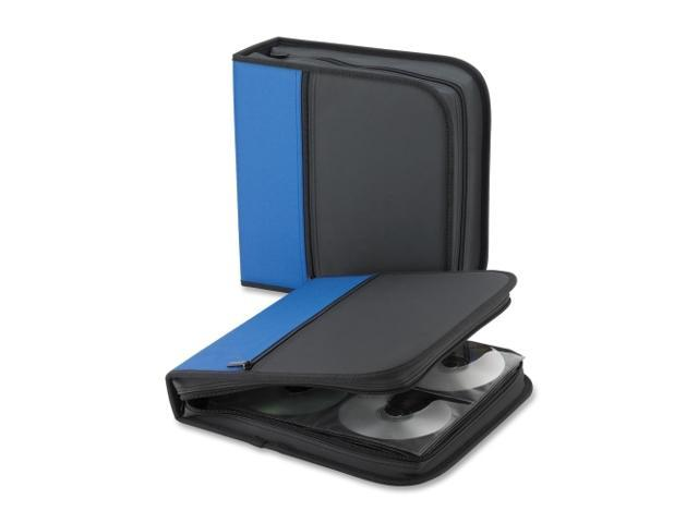 Compucessory 26337 CD/DVD Wallet 11-1/2inx2inx11-1/2in 128 Cap. Blue/Black