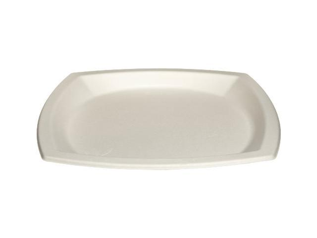 SOLO CUP COMPANY 6PSC2050 Bare Sugar Cane Plate 6.7in 125/BG Off-White