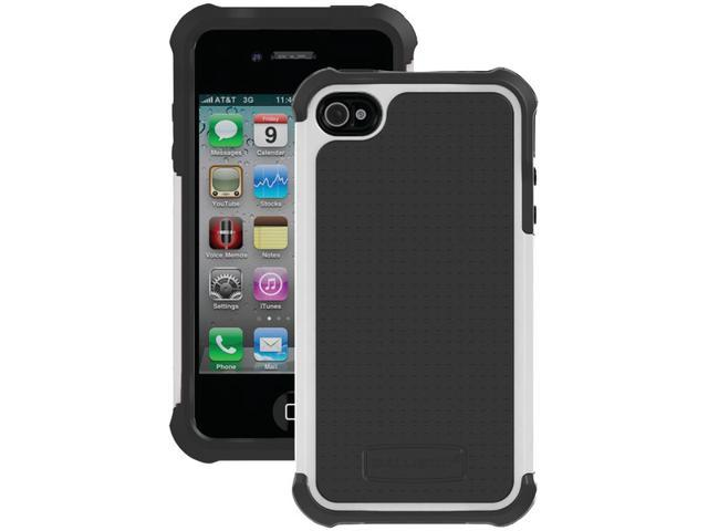 BALLISTIC SA0582-M045 iPhone(R) 4/4S SG Case (Dark Charcoal Gray/White)