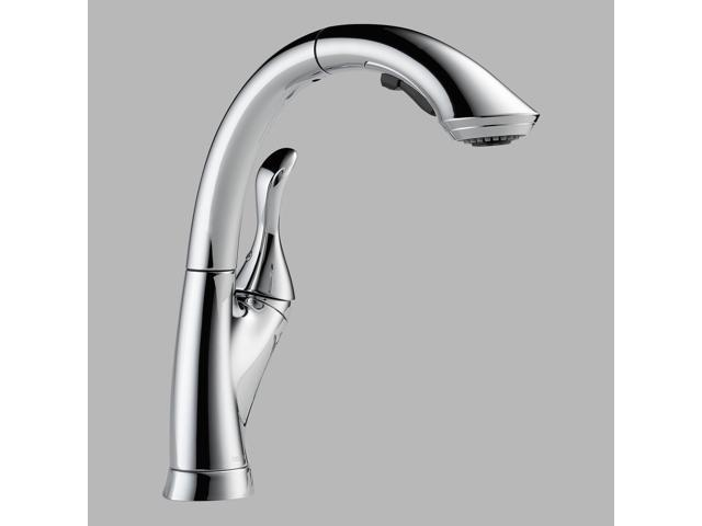 Delta 4153-DST Linden Single-Handle Pull-Out Sprayer Kitchen Faucet in Chrome