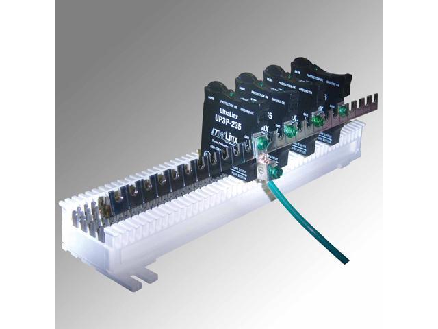 ITW Linx ITW-MGBSGL-1 Ultralinx 66 Block 25 Pair Ground Bar