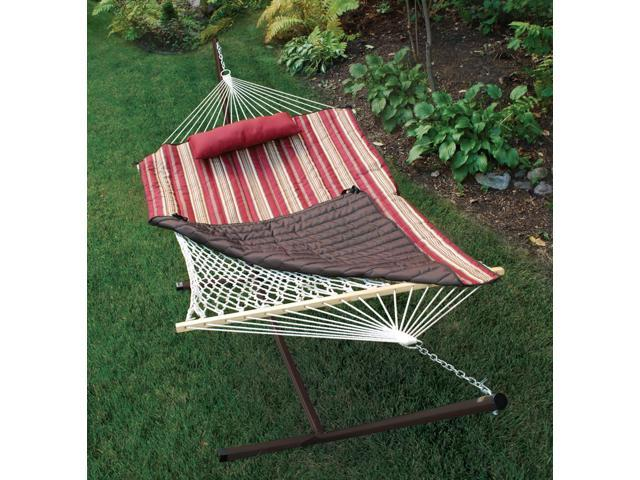 algoma 8911s cotton rope hammock stand pad and pillow  bination algoma 8911s cotton rope hammock stand pad and pillow      rh   newegg