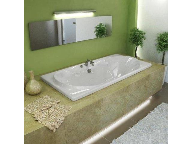 Atlantis Tubs 3672WAR Whisper 36 X 72 X 23 Inch Rectangular Air Jetted Bathtu