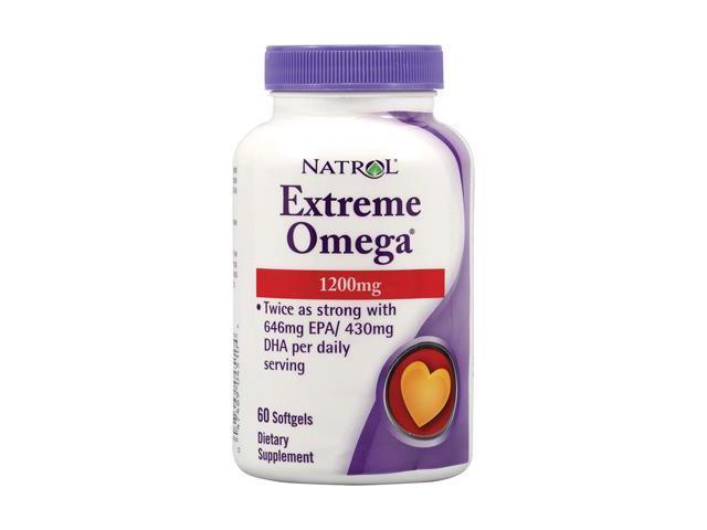Natrol Extreme Omega , 1200 mg, 60 Softgels