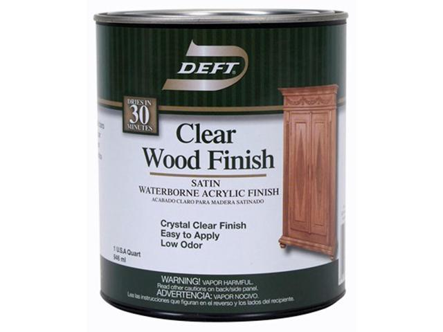 Deft 109-04 Satin Waterborne Clear Wood Finish - 1 Quart