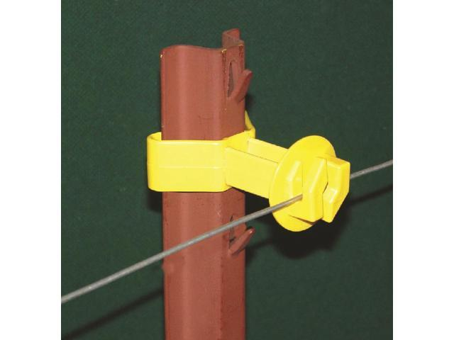 Dare Products Chain Link U Post Insulator Yellow - SNUG-SU-25