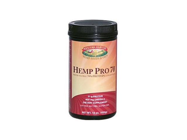Manitoba Harvest HEMP PRO 70, Water Soluble 70% Protein Concentrate, 16-Ounce Tub