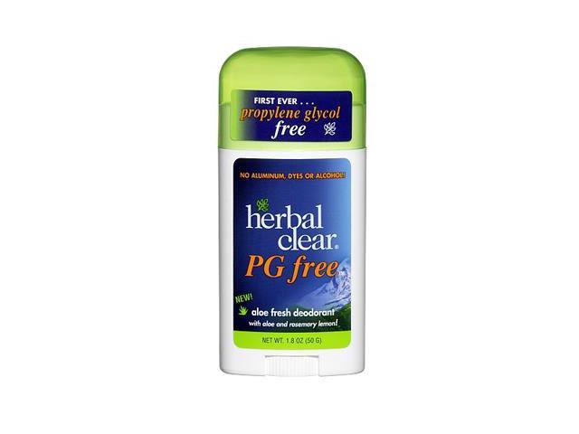 Deodorant Stick-Aloe/PG Free - Herbal Clear - 1.8 oz - Stick