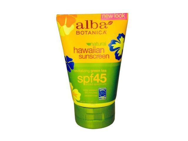 Hawaiian Green Tea SPF 45 Sunscreen - Alba Botanica - 4 oz - Cream