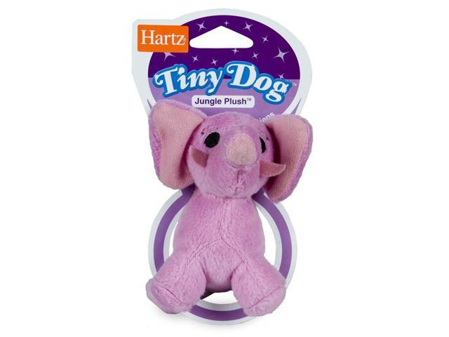 Hartz 04353 Jungle Plush Tiny Dog Plush Toy (Assorted Styles) (Pack of 1)