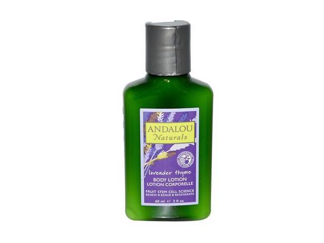 Lavender Thyme Body Lotion Trial - Andalou Naturals - 2 oz - Lotion