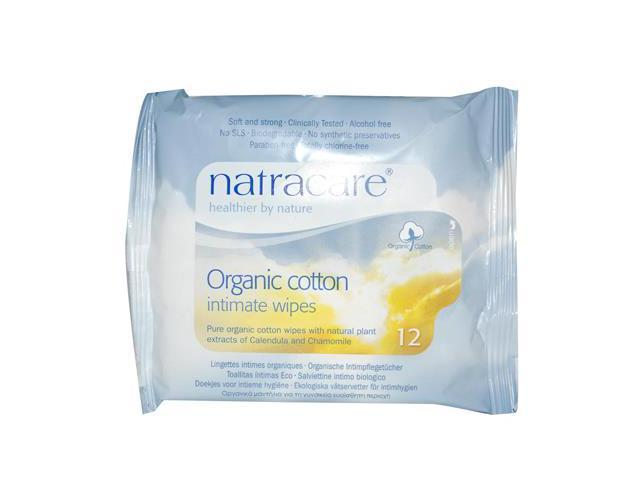 Organic Cotton Intimate Wipes - Natracare - 12/1 - Packet