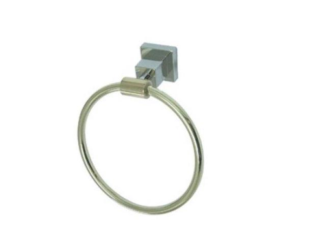 CLAREMONT 6 TOWEL RING-Chrome/Polished Brass Finish