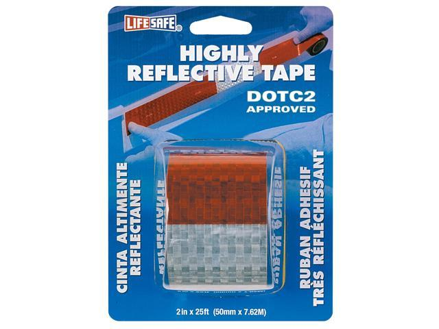 Incom Manufacturing RE2125 2-in X 25 Red and Silver Highly Reflective Tape