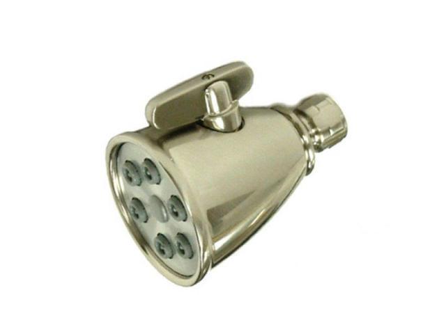 Kingston Brass CK138A8 Kingston Brass CK138A8 3 in. Diameter Adjustable Shower Head with 6 Jets, Satin Nickel