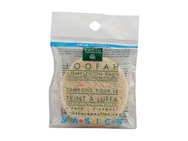 Loofah Face Discs 3 per Pack - Earth Therapeutics - 1 - Pack