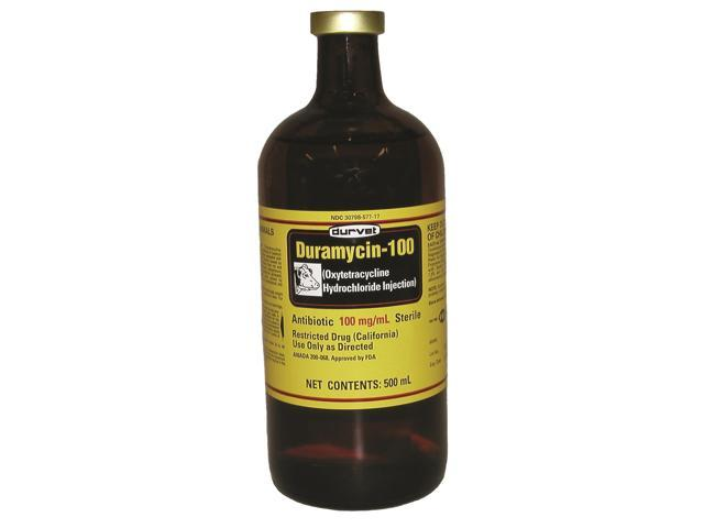 Durvet Key Items Duramycin 100 Injection Black 500 Milliliter - 01 DME0555