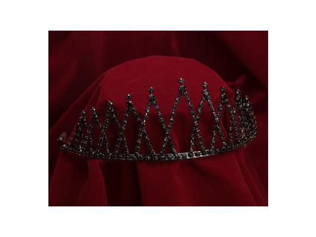 Sunnywood 4006BNK Black Rhinestones And Gun Metal Evil Queen Crown