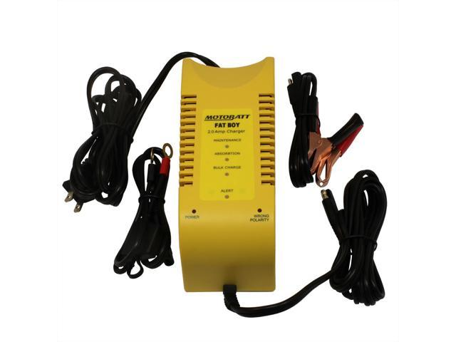 MotoBatt MBCFB Fat Boy Battery Charger and Maintainer - 12V at 2A