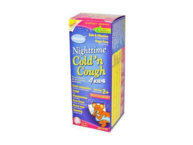 Hyland's Cold 'n Cough, 4 Kids, Nighttime, Multi-Symptom, 4 oz.