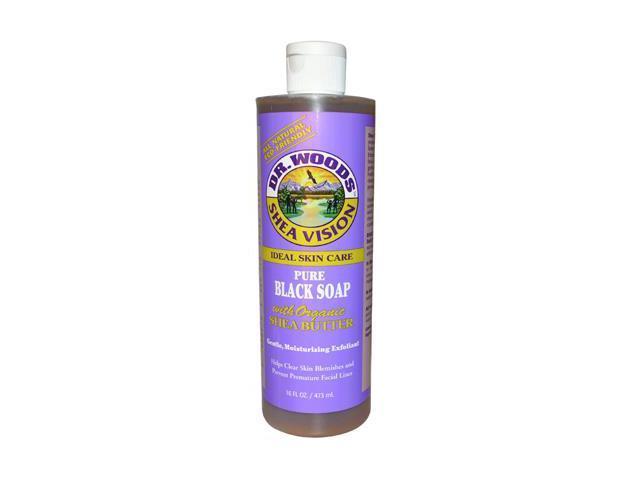 Organic Shea Butter Pure Black Castile Soap - Dr. Woods - 16 oz - Liquid