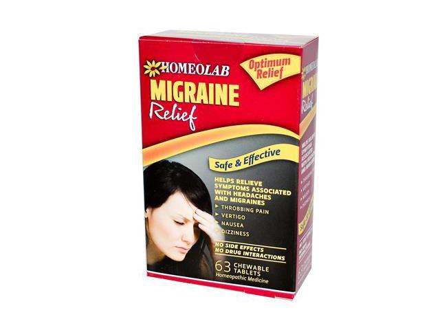 Homeolab USA Migraine Relief Tablets, 63 Chewable Tablets