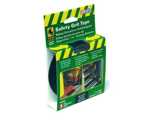 Incom Manufacturing RE3950 1-in X 15 Black Gator Grip Anti Slip Safety Grit Tape