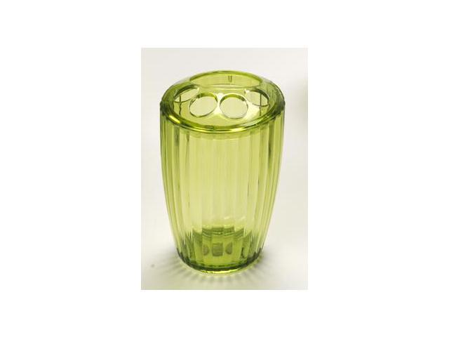 Carnation Home Fashions BA-APR/TB/73 Ribbed Acrylic Toothbrush Holder In Palm Gr
