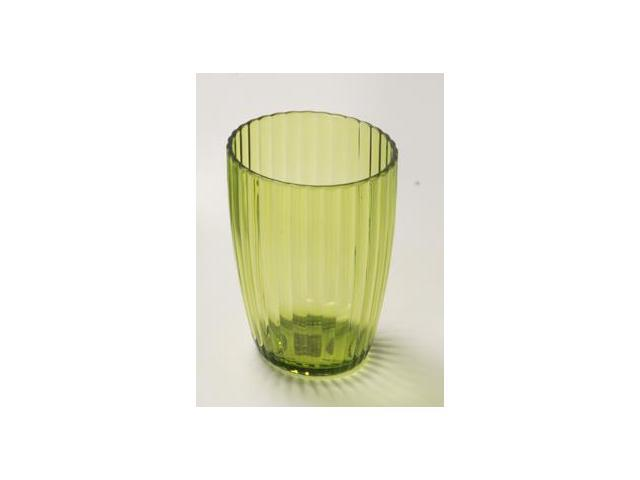 Carnation Home Fashions BA-APR/TU/73 Ribbed Acrylic Tumbler In Palm Green