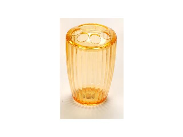 Carnation Home Fashions BA-AOR/TB/72 Ribbed Acrylic Toothbrush Holder In Orange