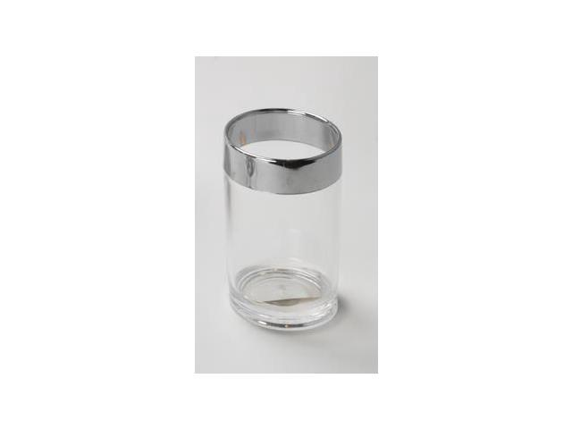 Carnation Home Fashions BA-ACR/TU Ribbed Acrylic Tumbler In Clear with Chrome-Co