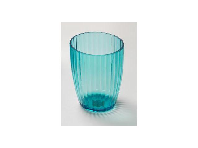 Carnation Home Fashions BA-ARC/TU/80 Ribbed Acrylic Tumbler In Cerulean Blue