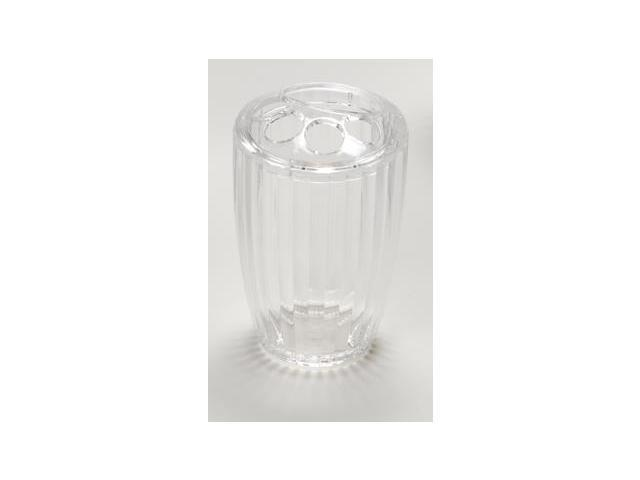 Carnation Home Fashions BA-ASR/TB/26 Ribbed Acrylic Toothbrush Holder In Clear