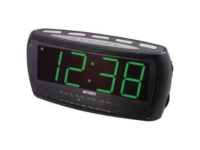 jensen jcr 208 am fm alarm clock radio. Black Bedroom Furniture Sets. Home Design Ideas