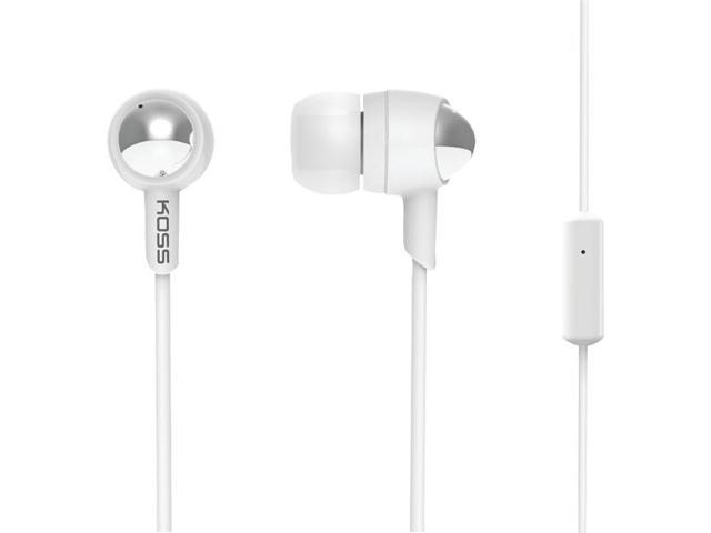 KOSS 183814 KEB30 Passive Noise-Isolating In-Ear Earbuds with Microphone (White)