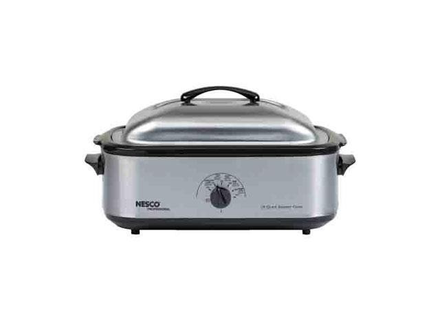 Nesco 4818-25PR Electric Oven - Single - 0.60 ft³ Main Oven - Roasting, Baking, Steaming - Countertop - Stainless Steel