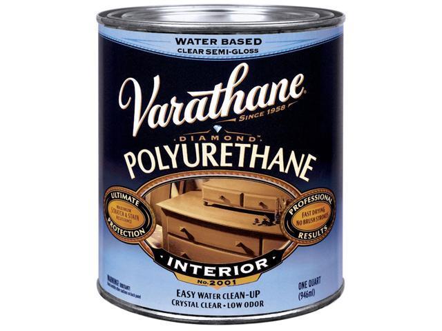 Varathane 200141 1 Quart Semi Gloss Interior Water Based Diamond Polyurethane Fi