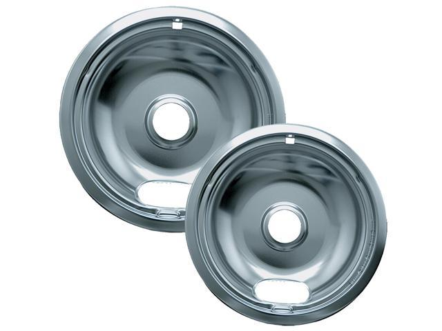 Range Kleen 12562X Style A Chrome Drip Pans - 2-Pack